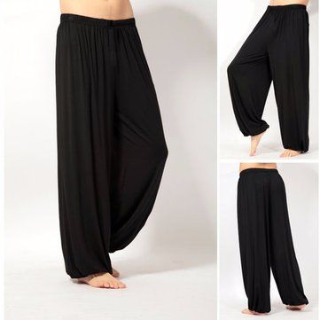 Para hombres ligeros sueltos pantalones de yoga práctica matutina cómodos  deportivos pantalones 2e7ebf5af0d8