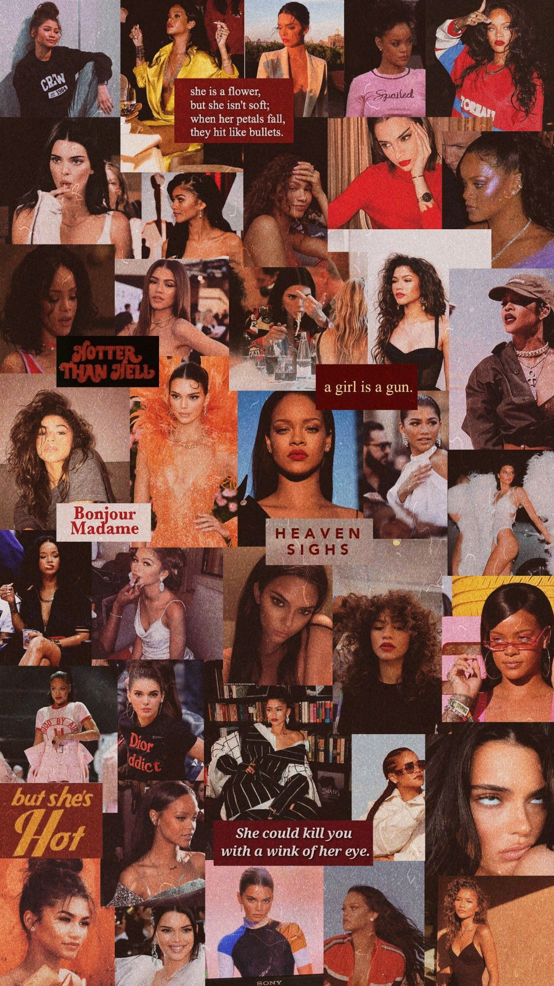 Best Badass Girls In 2020 Aesthetic Iphone Wallpaper Hype Wallpaper Celebrity Wallpapers