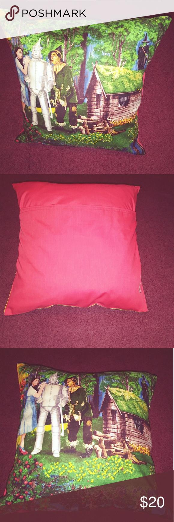 Wizard of Oz throw pillow 16x16 inch throw pillow with a home made envelope pill  Wizard of Oz throw pillow 1616 inch throw pillow with a home made envelope pillow case o...