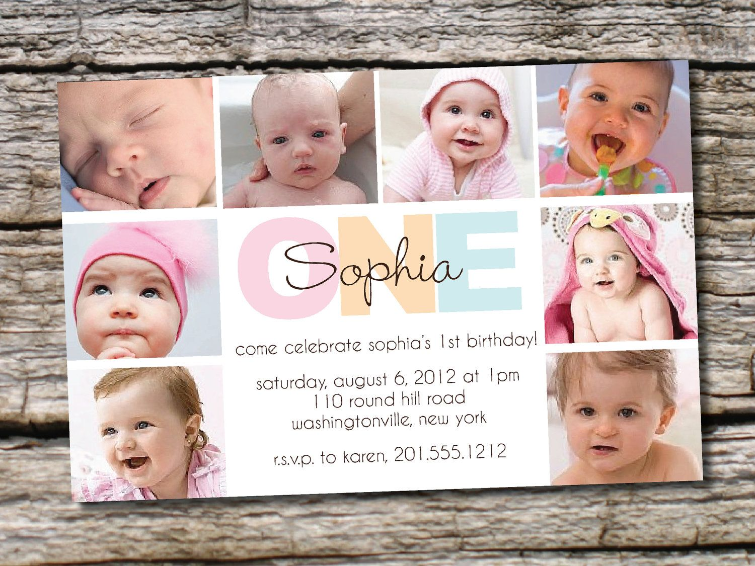 BOLD BIRTHDAY First Birthday Party Event Printable Invitation/One ...