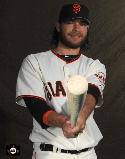 Brandon Crawford: On  Feb 23, everyone in camp stopped by the visiting clubhouse to have their portraits taken for the Giants Yearbook, Magazine and Scoreboard
