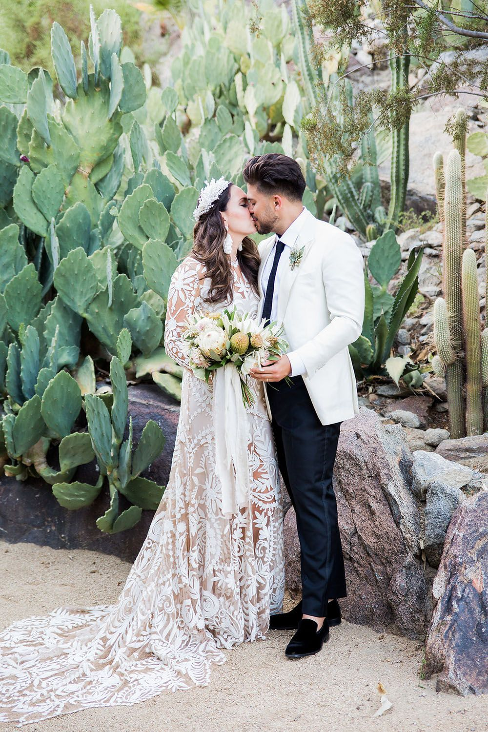 Bohemian beauty with a tropical twist desert wedding at colony