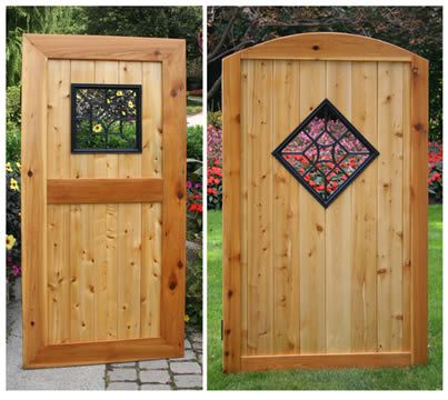 Aluminum Cast Black Square/Diamond Wooden Gate Decorative Insert X Maybe  Something Like This For My Garden Gate