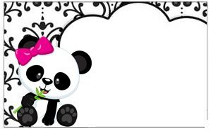 Kit Panda Preto Branco E Rosa Para Imprimir Gratis Festa