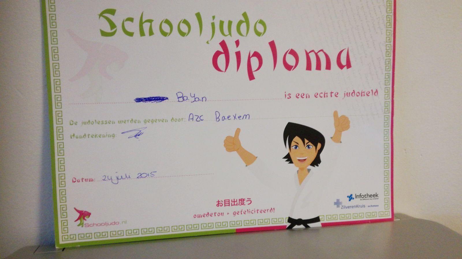 Ik Heb Judo Diploma Gekregen In Dit Ben Ik