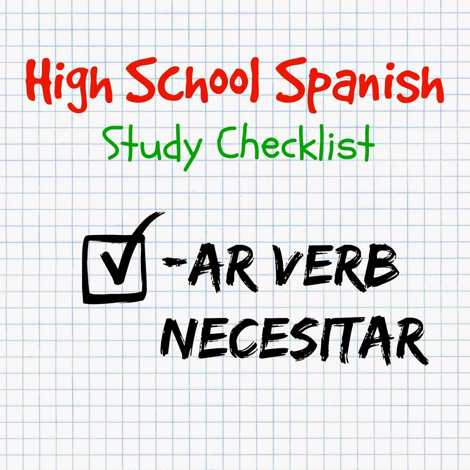 High School Spanish The Verb Necesitar To Need