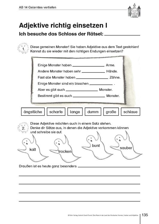 20 Arbeitsblatt Nomen Verben Adjektive | Bathroom | Pinterest
