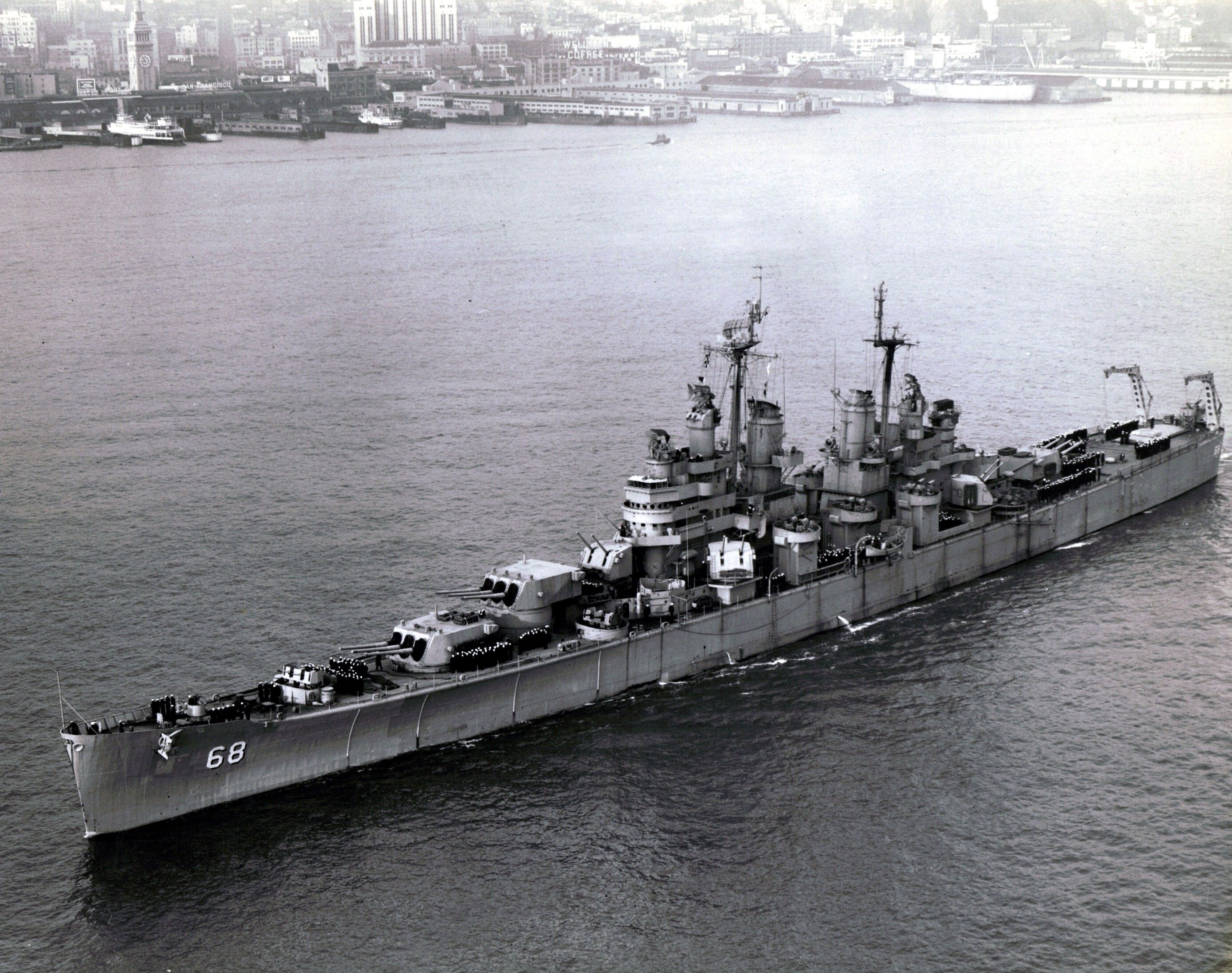 USS Baltimore (CA 68) (With images) | Heavy cruiser, Naval history ...