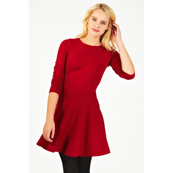 Oasis Long Sleeve Fit And Flare Dress