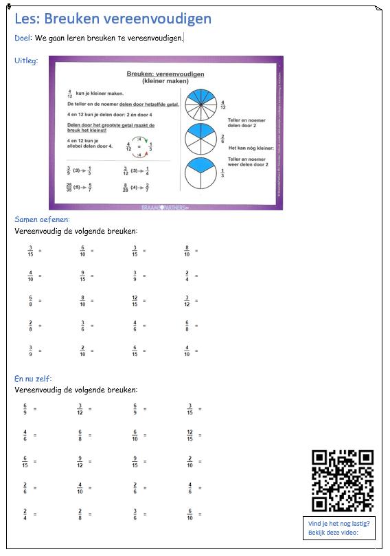 breuken vereenvoudigen   breuken - math, math worksheets en worksheets