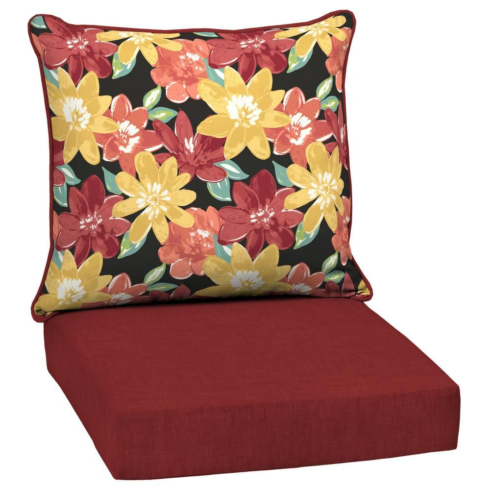 Arden selections ruby abella floral piece deep seating outdoor