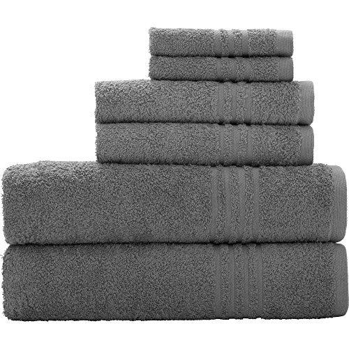 Bath Towels At Walmart Amusing Gray Stripe Border Textured Towel Set 30 X 54 Inches  Grey Stripes Decorating Inspiration