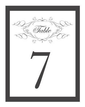 Free Printable Wedding Table Numbers S