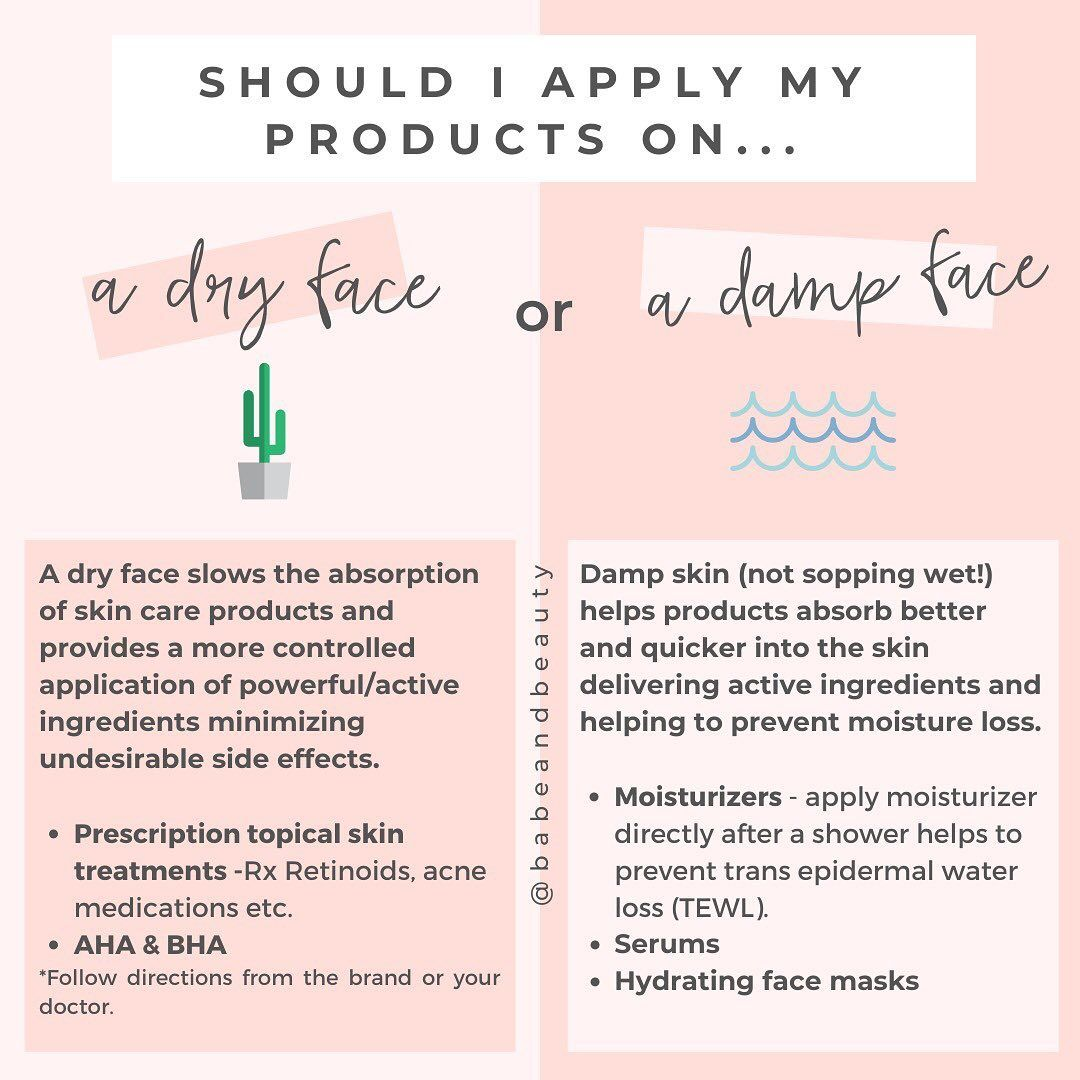 Dana Holistic Esthetician On Instagram A Common Question I Receive Is If It S Best To Apply Skincare Products To A Clea Skin Facts Body Skin Care Skin Care