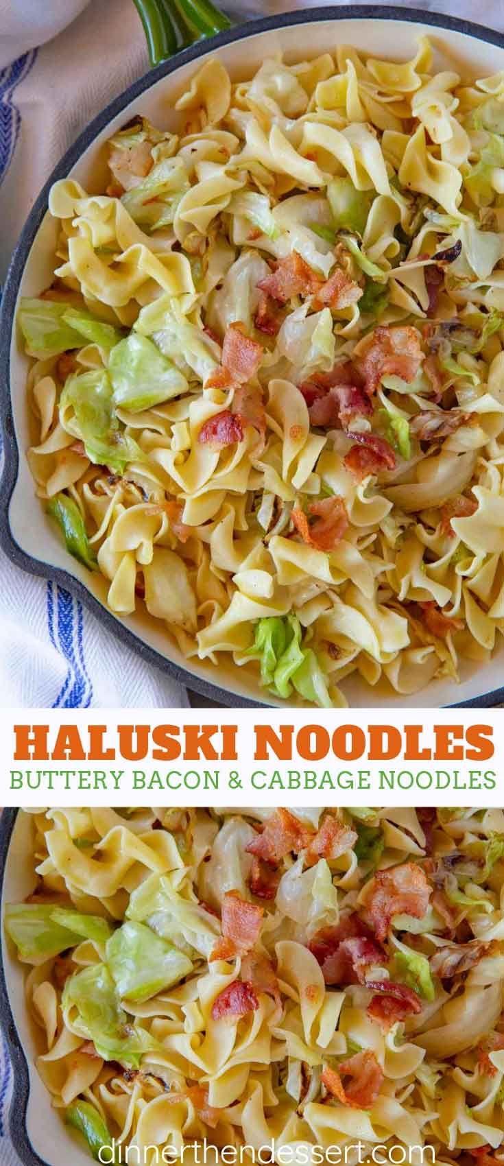 Haluski Noodles - Dinner, then Dessert #comfortfoods