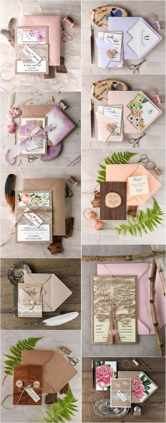Completely Customized & fully assembled wedding invitations - Find your perfect design ! www.4lovepolkadots.com