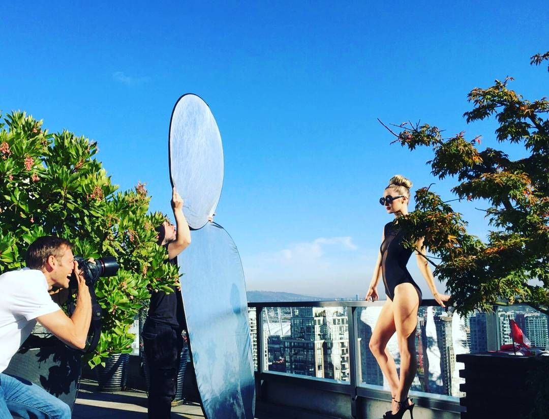 Hard at work! //MUA @jasminecelestejackson #model #modeling #vancouvermodel #penthouse #brandonelliotphotography