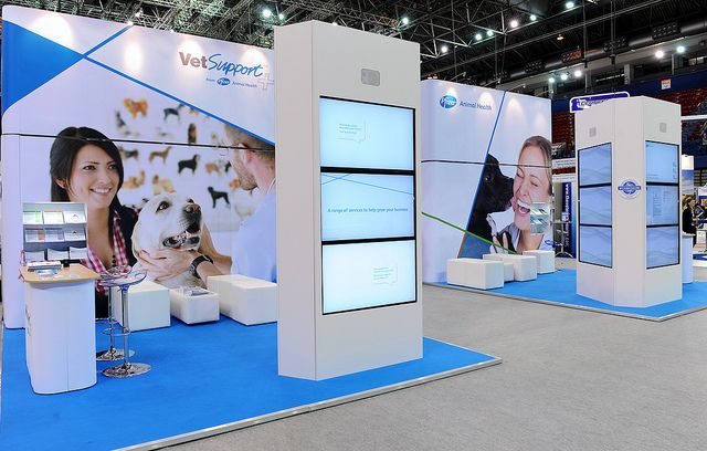 Pharmaceutical Exhibition Stand Design : Stylish exhibition display sytem for pfizer an american