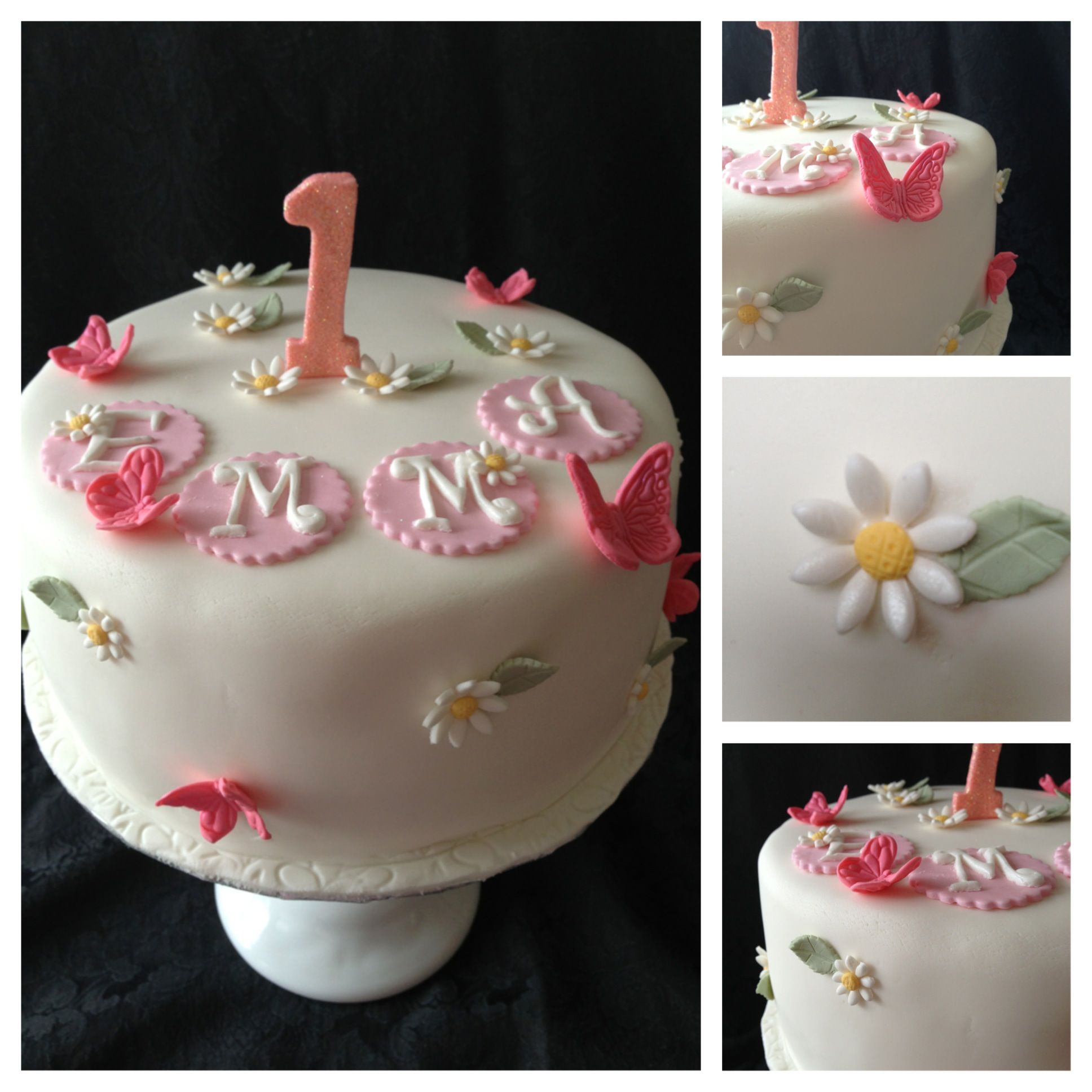 My Cake Fresh And Pretty Daisies And Butterflies For A Little
