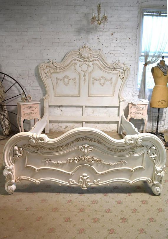 Egyptian Decor Bedroom: Painted Cottage Shabby Chic Romantic Angel Queen / King