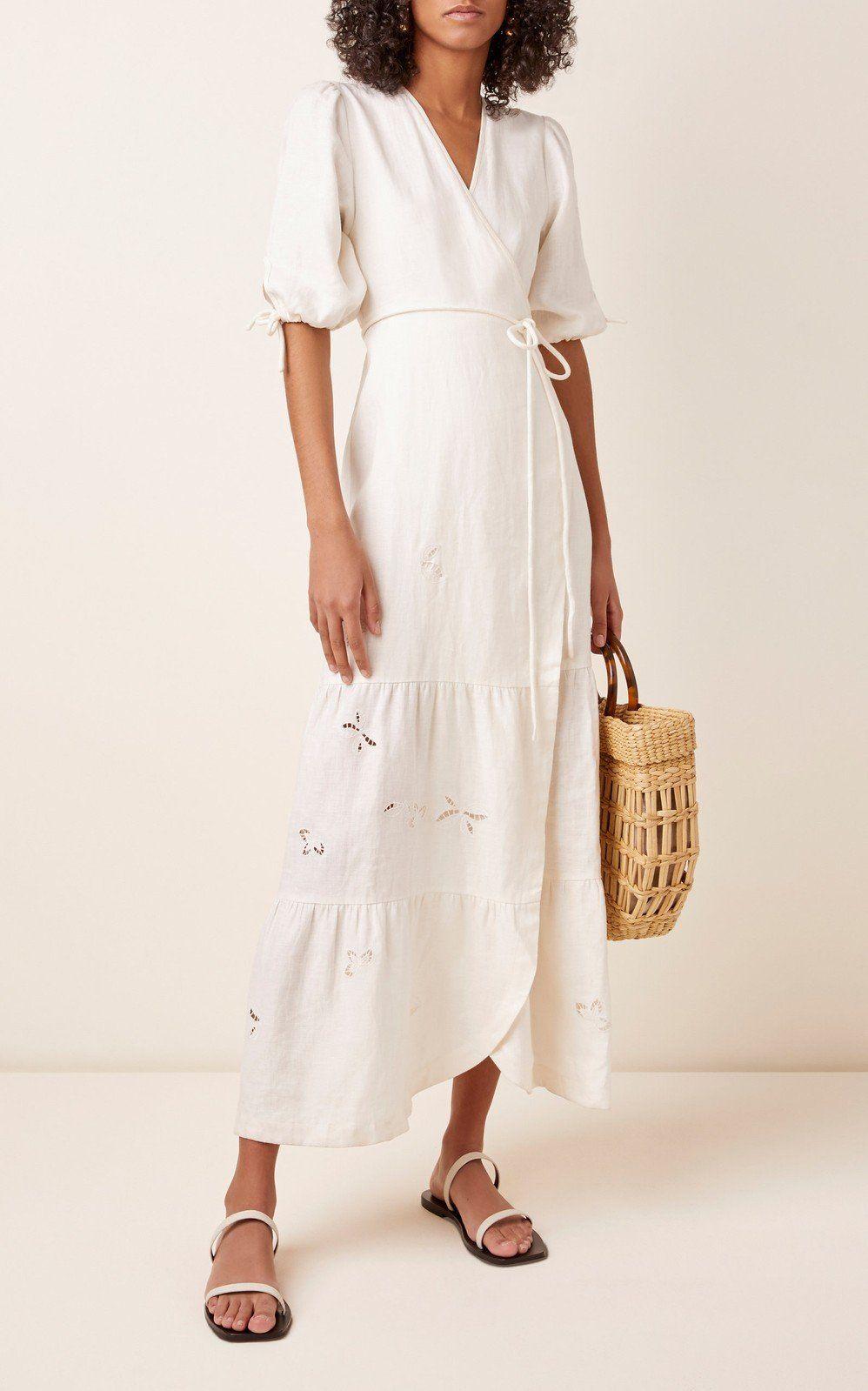 Alena Linen Wrap Maxi Dress by Sir The Label | Moda Operandi -   17 wrap dress 2018 ideas