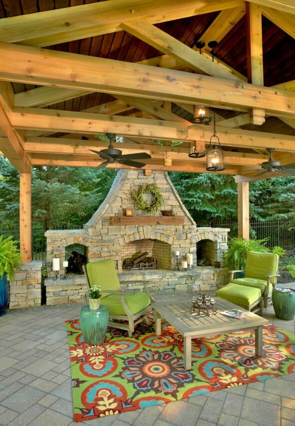 Outdoor Fireplace Decor