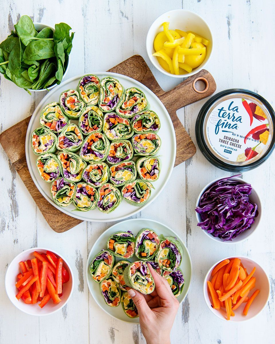 Rainbow Tortilla Pinwheels Recipe Healthy Appetizer Eat