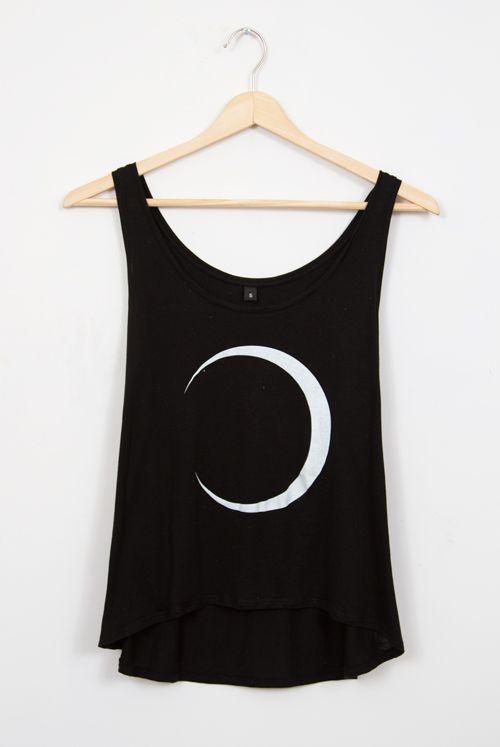 Moon Crescent Semi-Cropped Vest