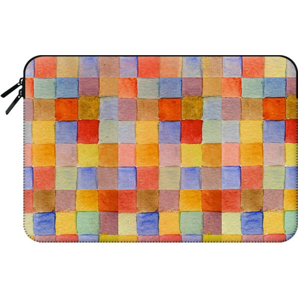 Macbook Sleeve - Rainbow mosaic macbook ($60) ❤ liked on Polyvore featuring accessories, tech accessories and macbook sleeve