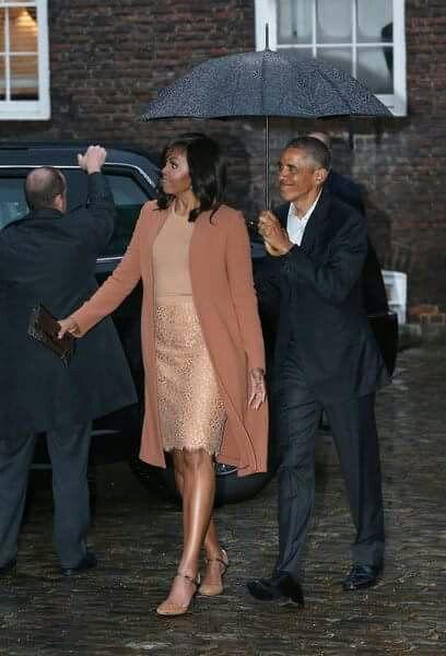 Image result for barack obama and michelle obama in rain