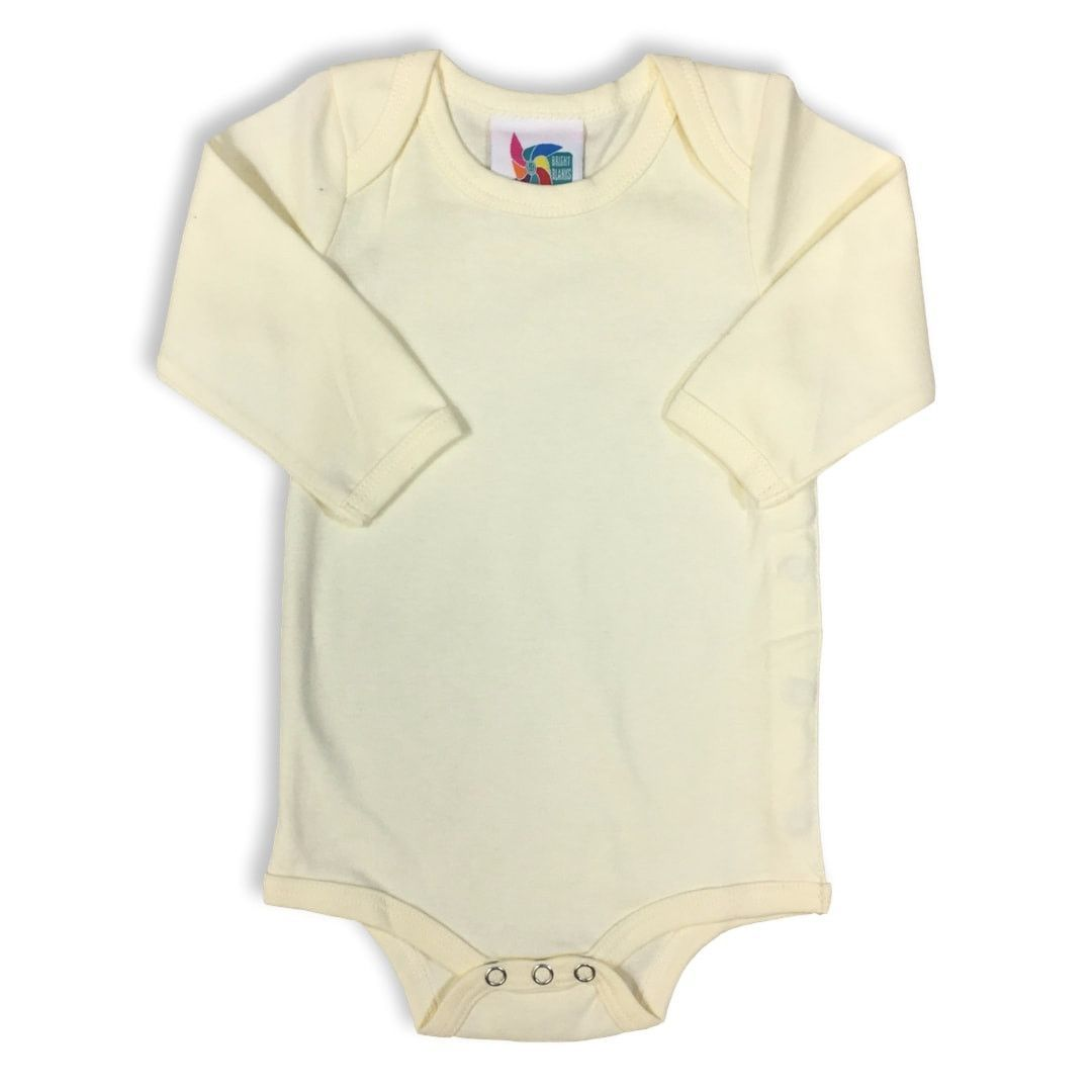 Ivory Long Sleeve Baby Bodysuit
