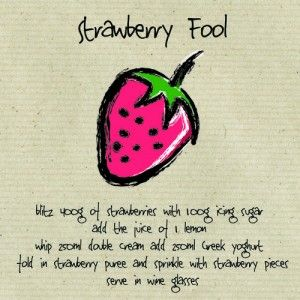 Strawberry Fool Grow strawberries and make this yummy recipe. This card contains a strawberry seeded attachment, plant the shape and water well, with a little bit of love and attention, your seeds will grow!