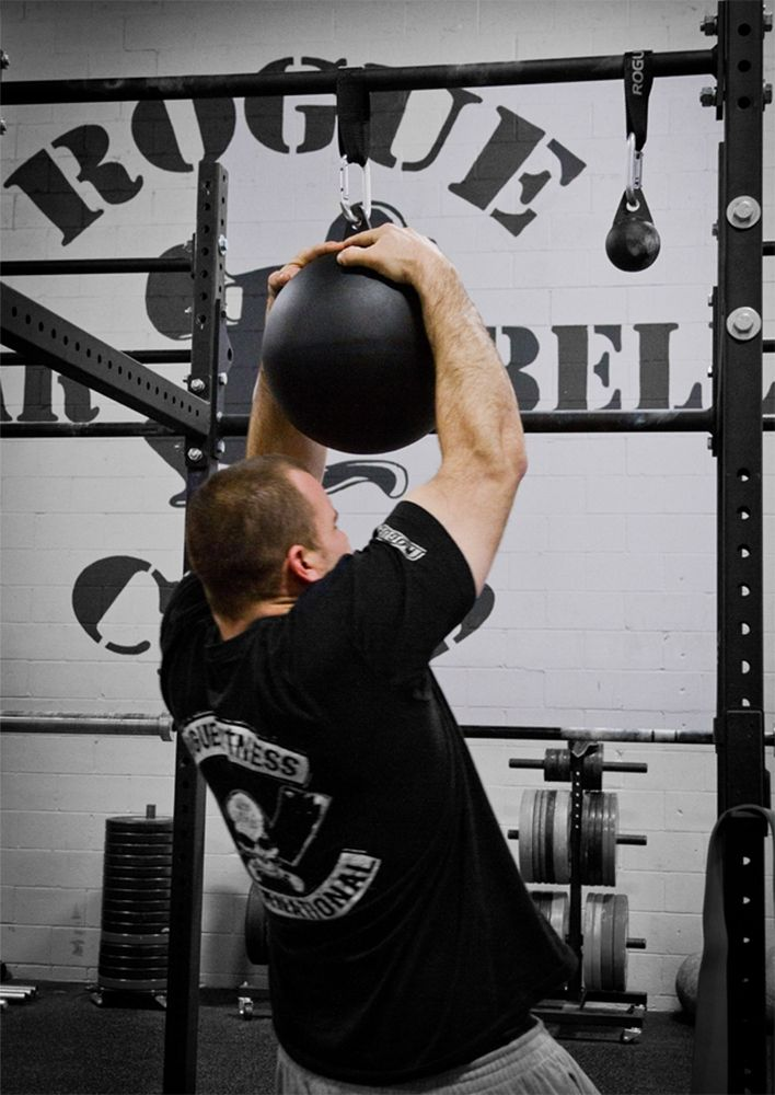The pullup globe uses gymnastic strength training variance in a