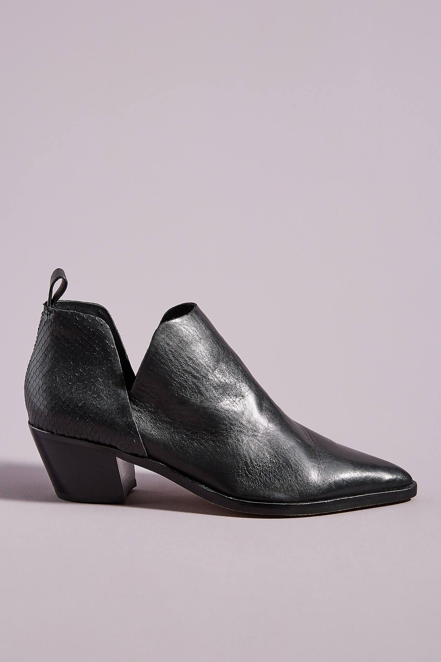 Dolce Vita Sonni Side-Cut Booties by in Black Size: 6.5, Boots at Anthropologie