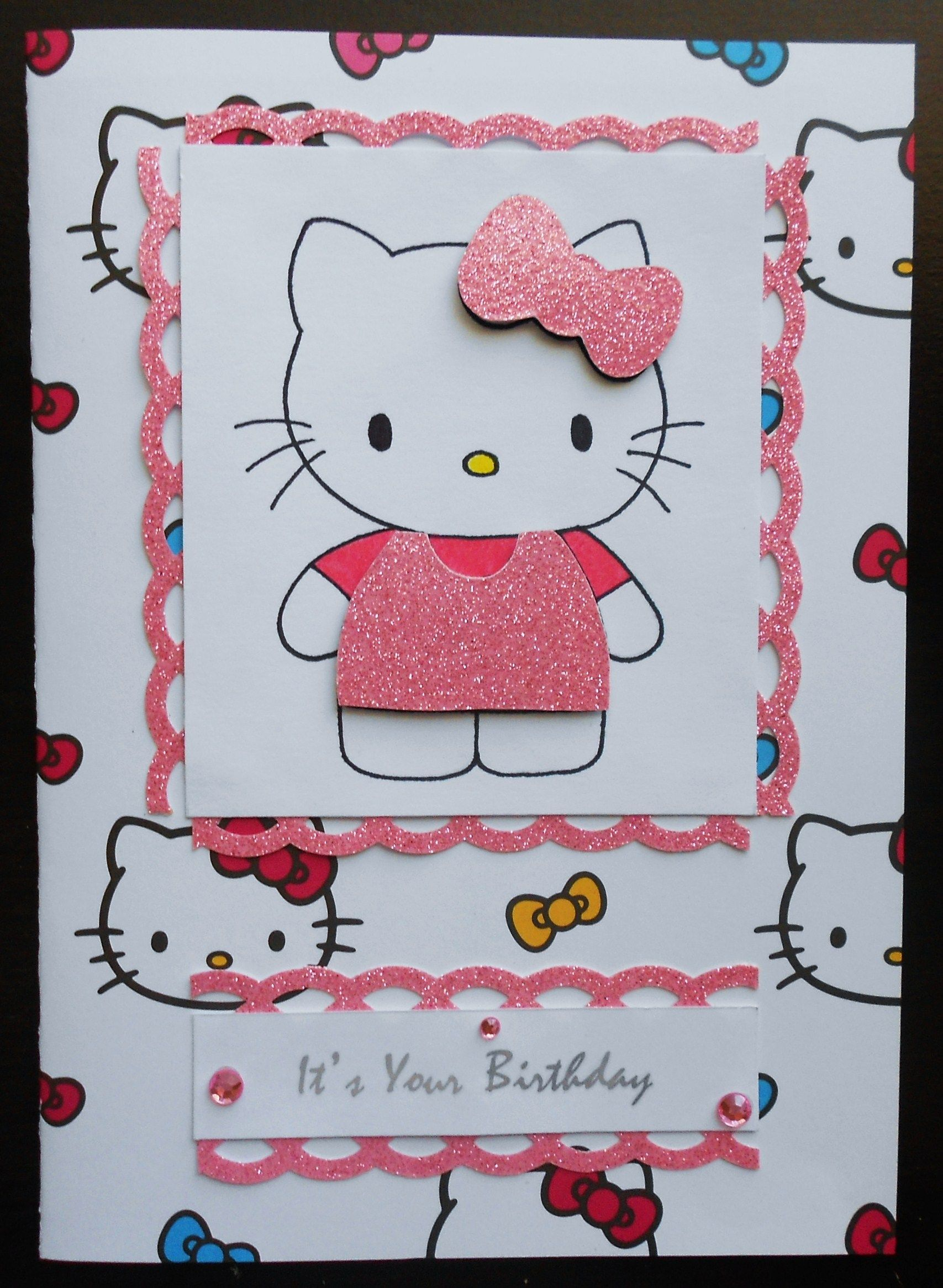 Home from One of a Kinds  Cards, Birthday cards, Hello kitty