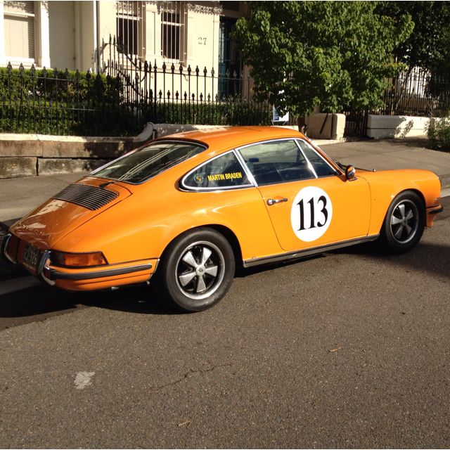 Car On Duxford St Nice Race Number On This Orange Porsche