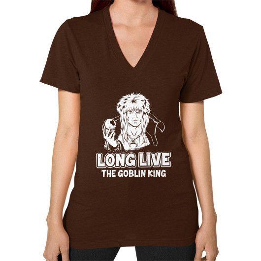 LONG LIVE THE GOBLIN KING V-Neck (on woman)