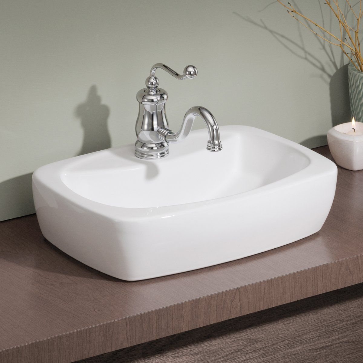Cheviot 1270w Thema Overcounter Self Bathroom Sink White Lowe S Canada