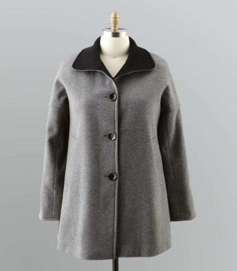 333e098506a88 Women s Outerwear Winter Fall Wool blend long coat jacket gift plus1X 2X 3X   180  Covington  BasicCoat  Outdoor