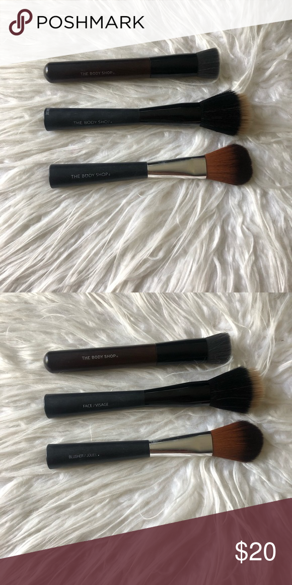 The Body Shop Brushes Great Quality Brushes Barely Used Each Brush Retails Over 20 Includes A Foundation The Body Shop Shop Brush Bare Minerals Brushes
