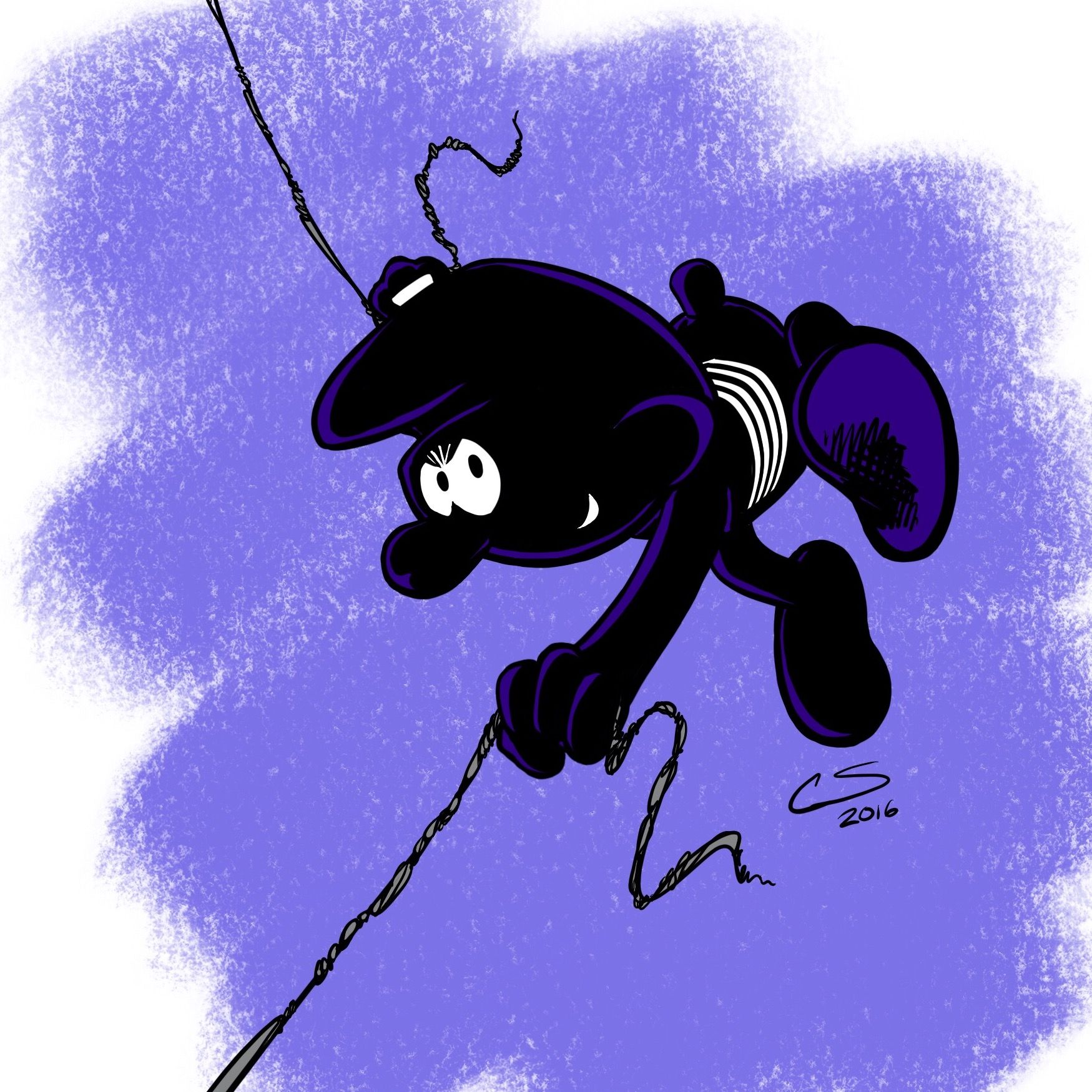 Spider-Smurf, Gnap Symbiote variant! Apologies to Peyo and Marvel ...
