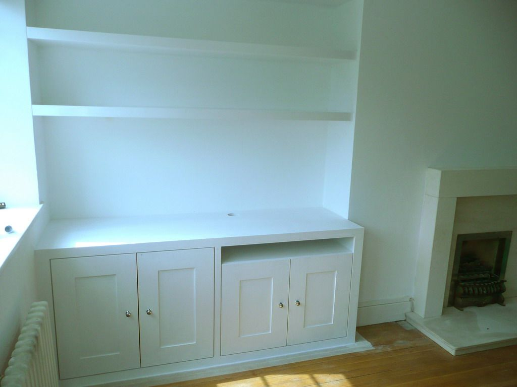 Double alcove cupboard with floating shelves (ealing) | House ...