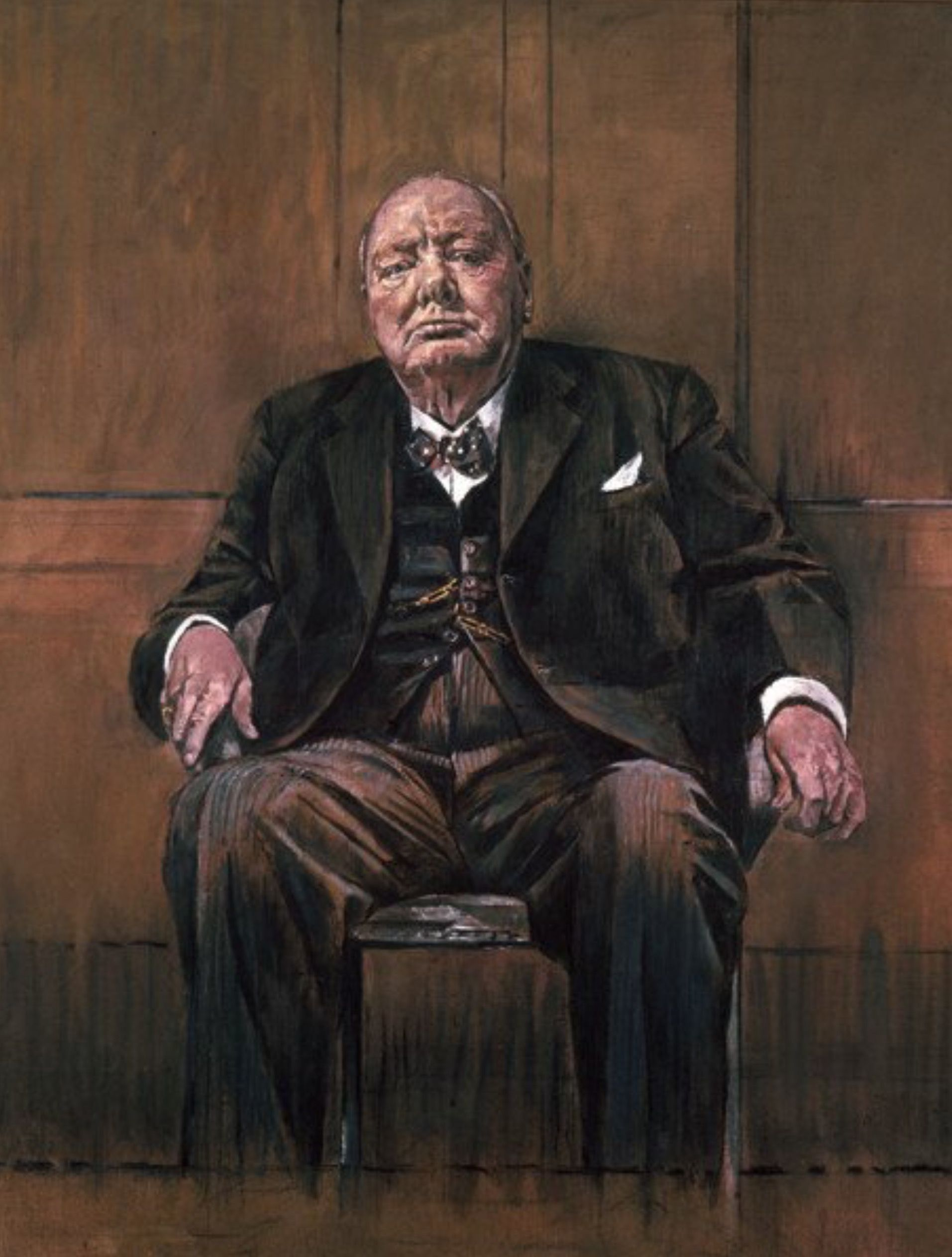 Graham Sutherland Winston Churchill : graham, sutherland, winston, churchill, Reproduction, Painting, Churchill, (1954-Sutherland's, Original)., Paintings,, Portraits,, Winston