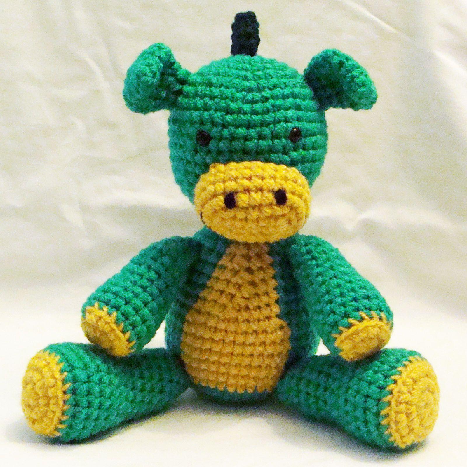 Dragón tejido al crochet