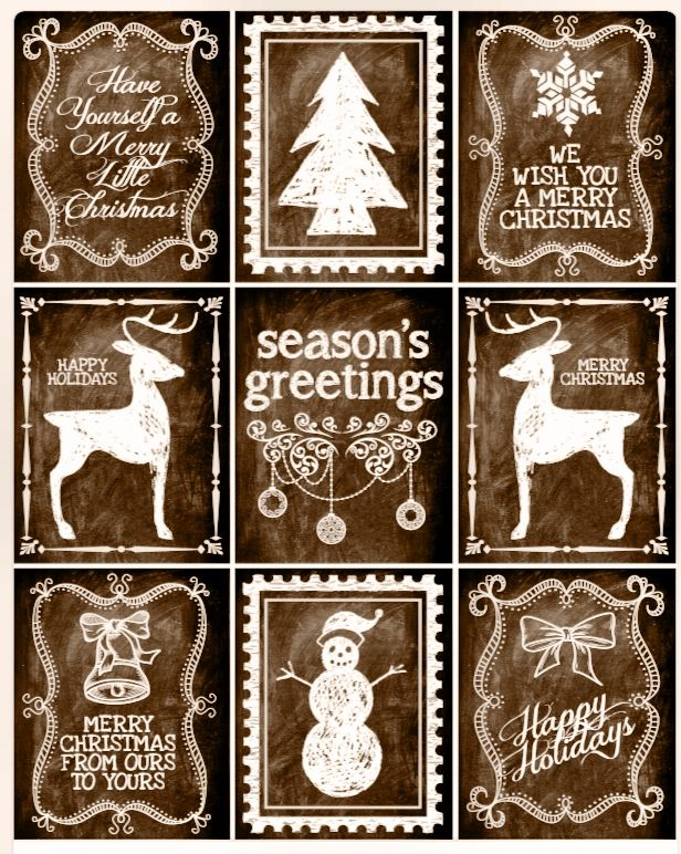 Rustic christmas gift tags and labels free printable rustic rustic christmas gift tags and labels free printable negle Image collections