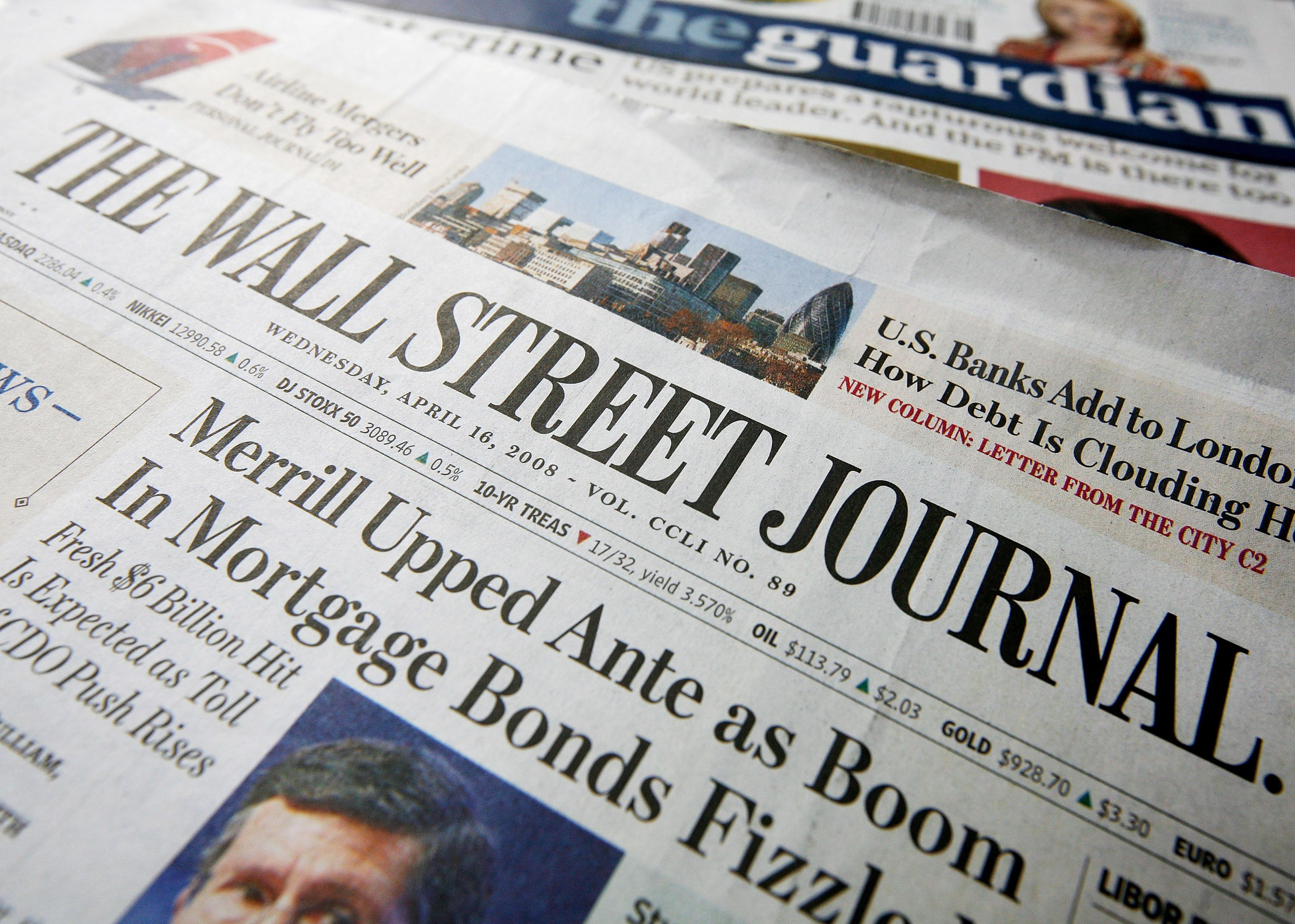 Wall Street Journal Wall Street Journal Wall Street Journal