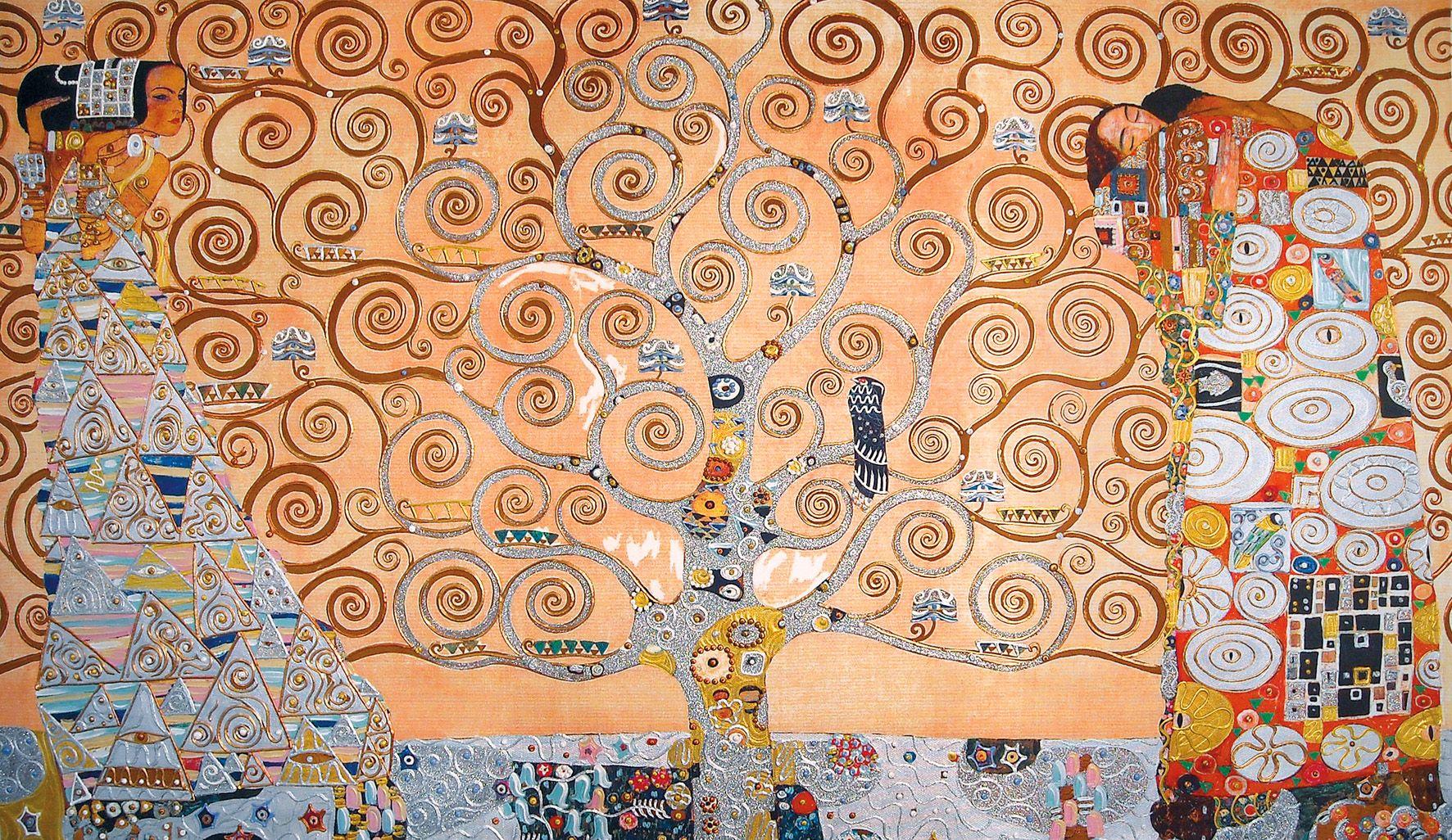Klimt Gustav (1862-1918)   Schizzi per il fregio con l'Albero della vita a  Palazzo Stoclet, Bruxelles (Belgio), 1905-9…   Albero della vita, Klimt,  Bruxelles belgio