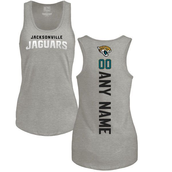 Women Jacksonville Jaguars Fanatics Branded Ash Custom Backer Tank Top T- Shirt cf35a13a9