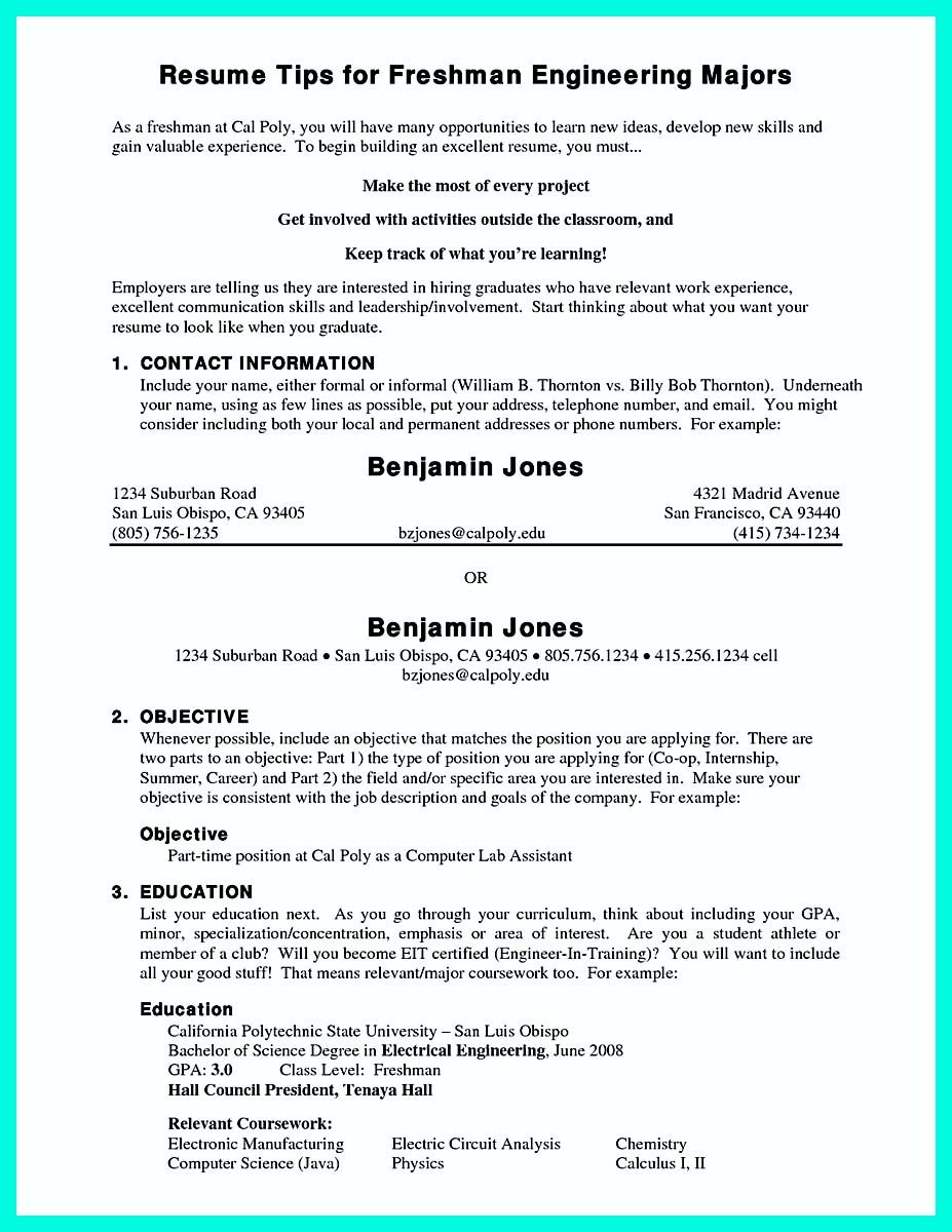 nice The Perfect College Resume Template to Get a Job