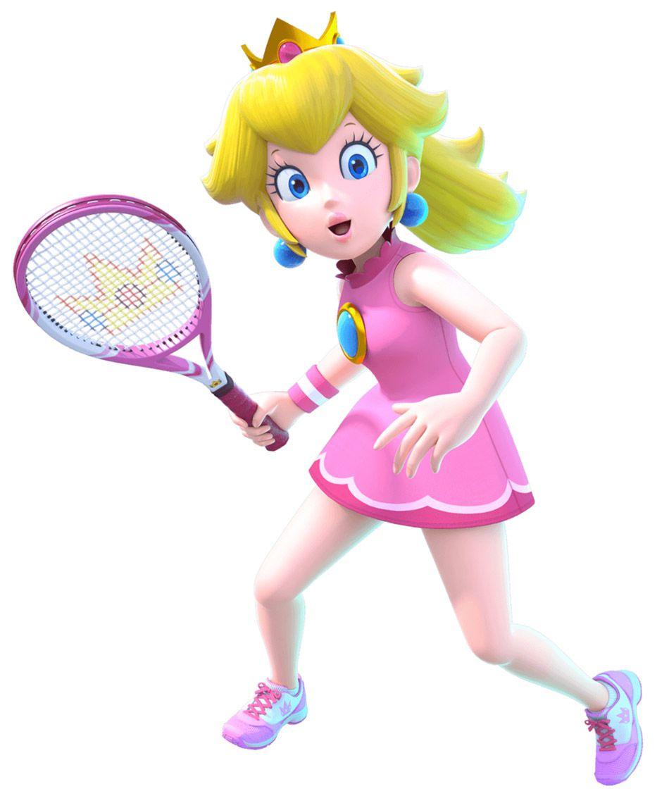 Peach Action Pose From Mario Tennis Aces Illustration Artwork Gaming Videogames Characterdesign Peach Mario Princess Peach Peach